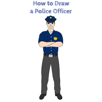 Police Officer Easy Drawing