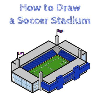 Soccer Stadium How to Draw
