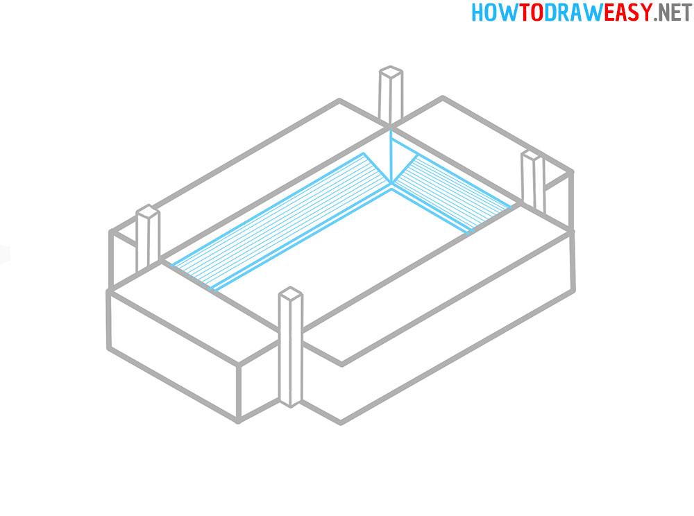 Step by Step Stadium Drawing