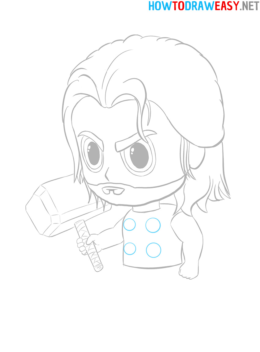 Thor Easy Drawing Tutorial