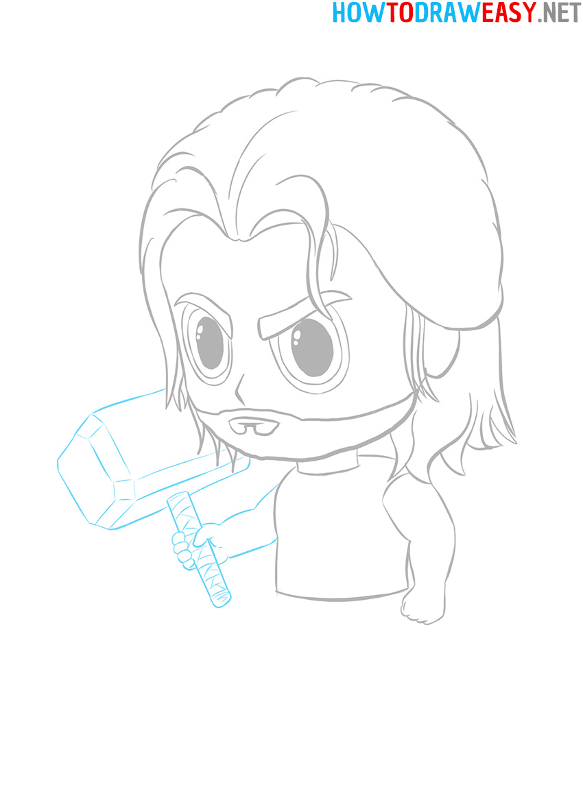 Thor Hammer Drawing