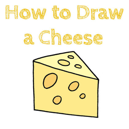 Cheese Drawing Step by Step