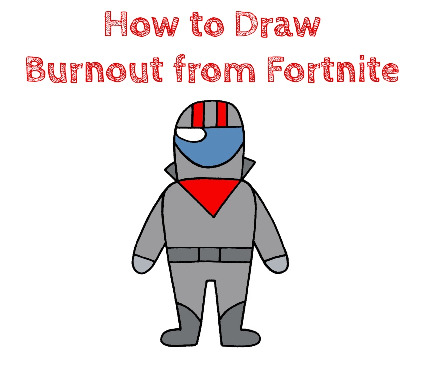 How to Draw Burnout from Fortnite Easy