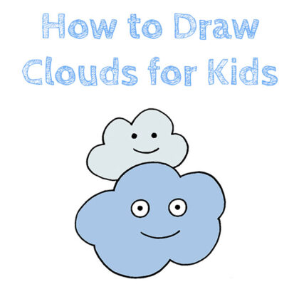 How to Draw Clouds Easy