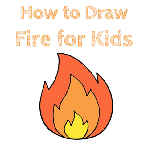 How to Draw Fire Easy