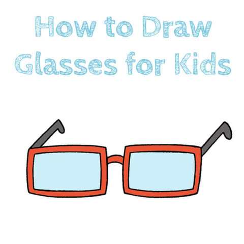 How to Draw Glasses Easy