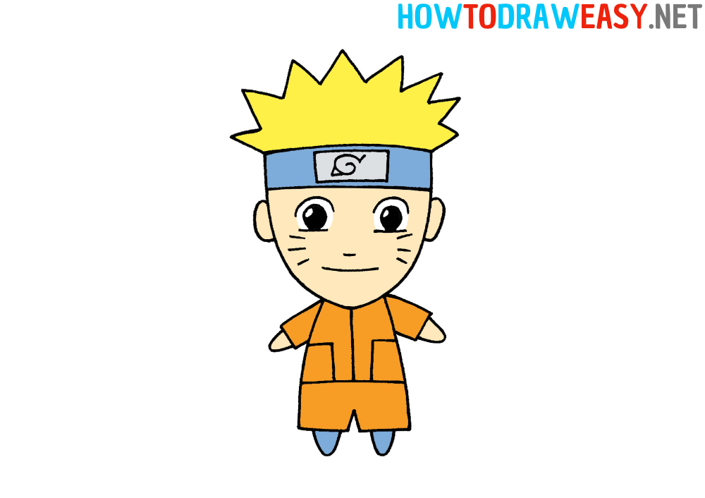 How to Draw Naruto for Kids