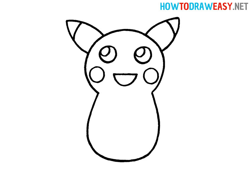 How to Draw Pikachu Face
