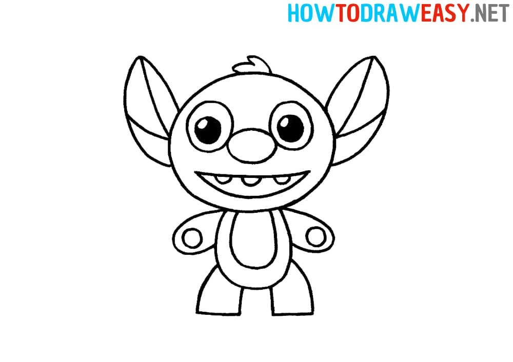 How to Draw Stitch Easy for Kids