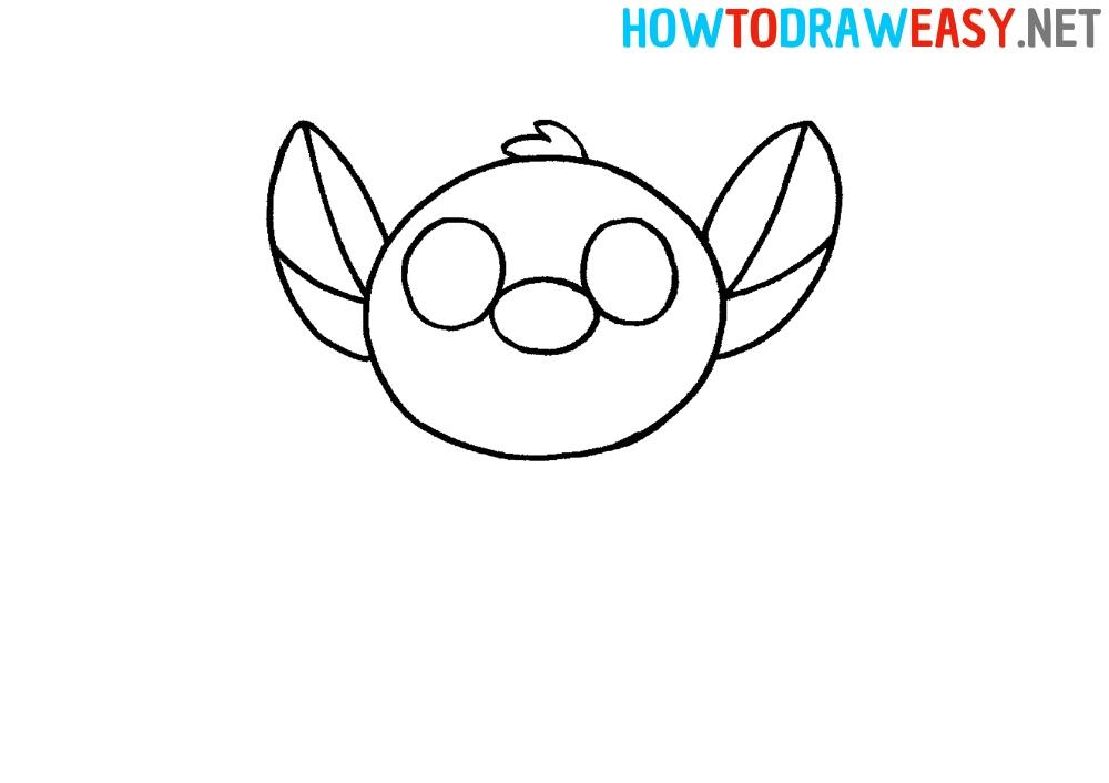 How to Draw Stitch Head