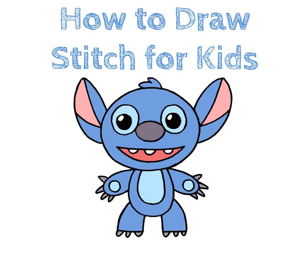 How to Draw Stitch for Kids