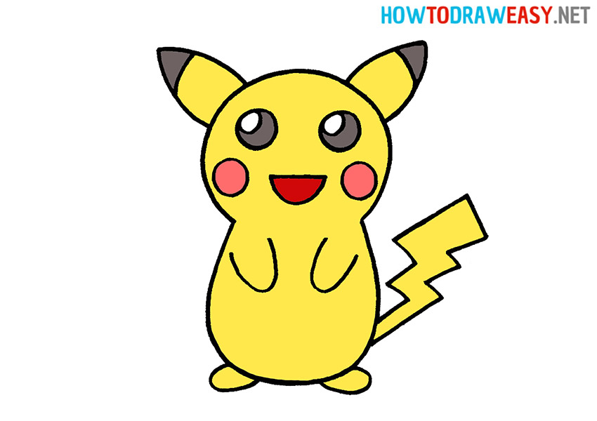 How to Draw a Cartoon Pikachu