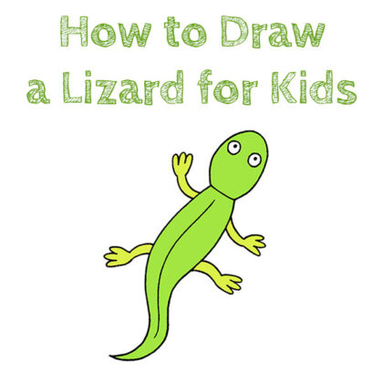 How to Draw a Lizard Easy