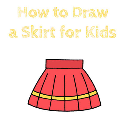 How to Draw a Skirt Easy