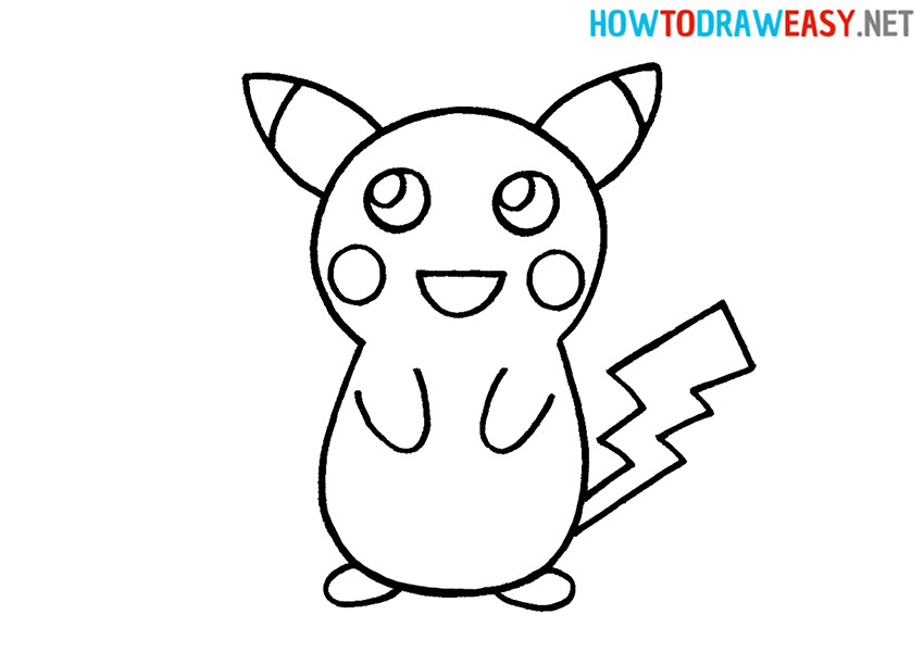 How to Draw an Easy Pikachu