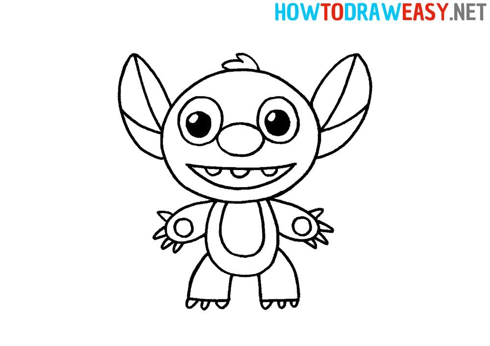 How to Draw Stitch Easy