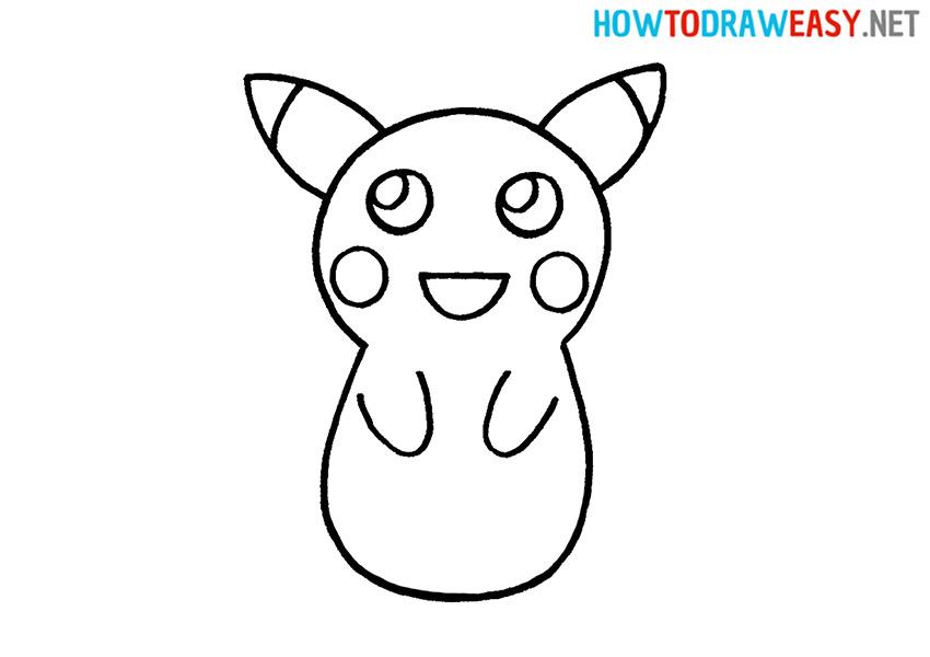 Pikachu How to Draw