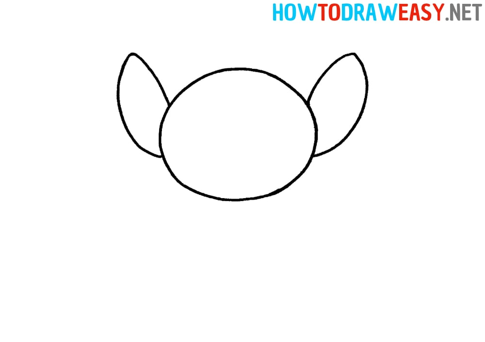 Stitch Ears Drawing