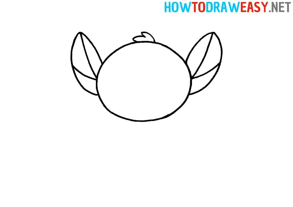 Stitch Head Drawing