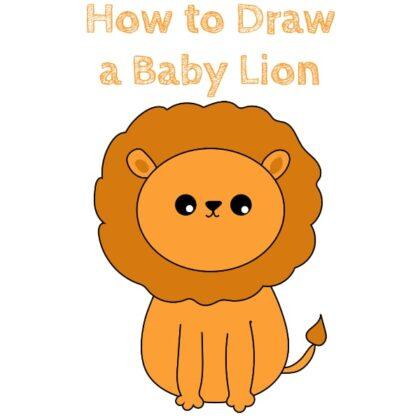 baby lion draw
