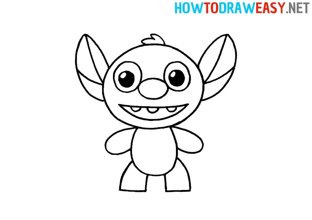 easy how to draw stitch