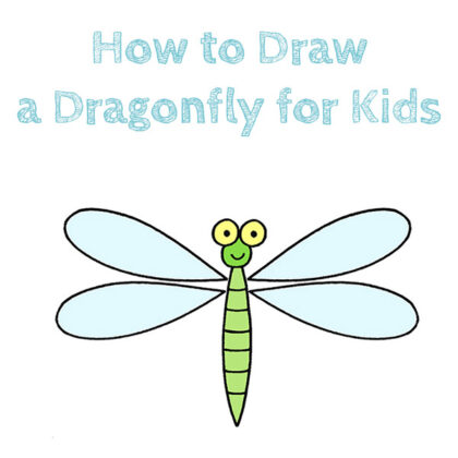 how to draw a dragonfly simple