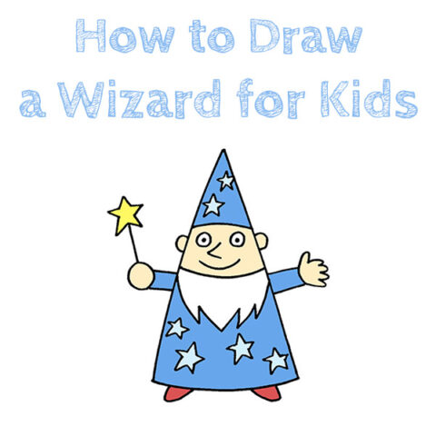 how to draw a wizard simple