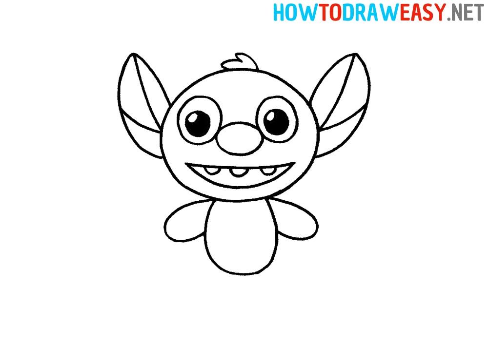 how to draw stitch from lilo and stitch