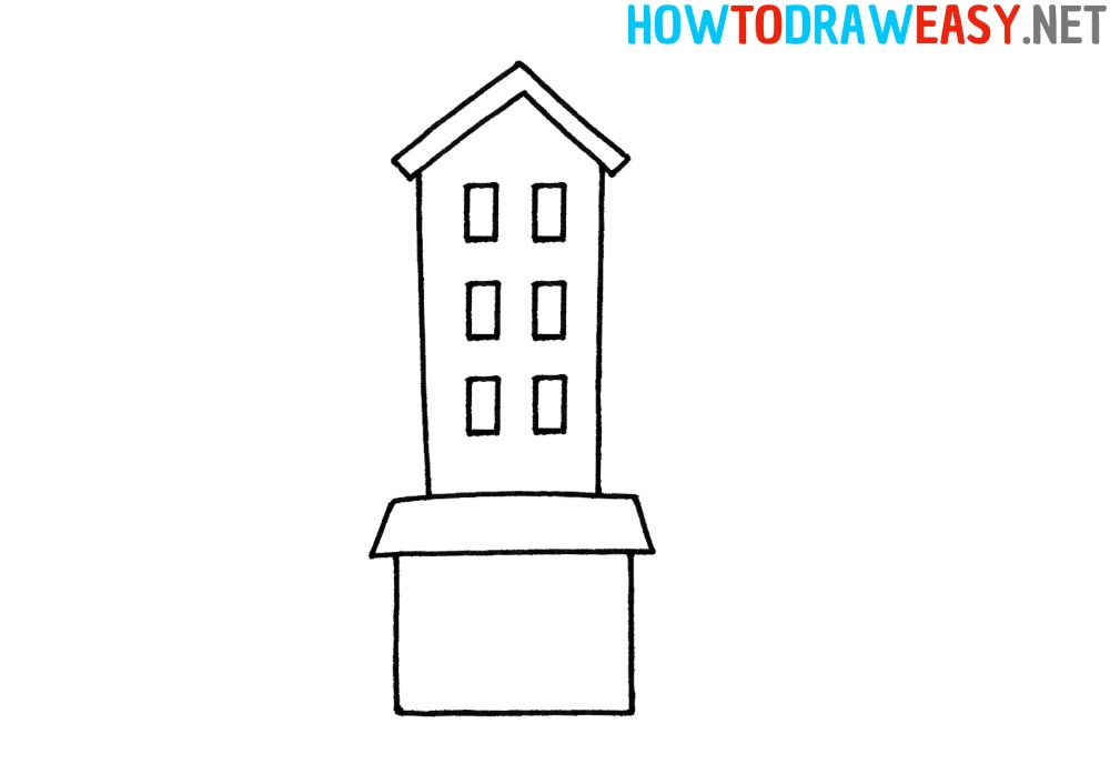 Building Step by Step Drawing Tutorial