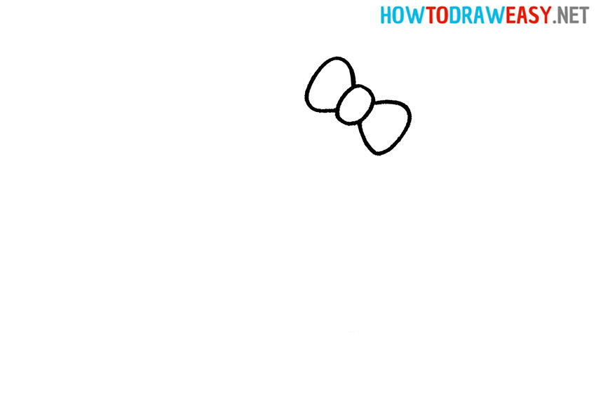 Drawing Hello Kitty Step 1