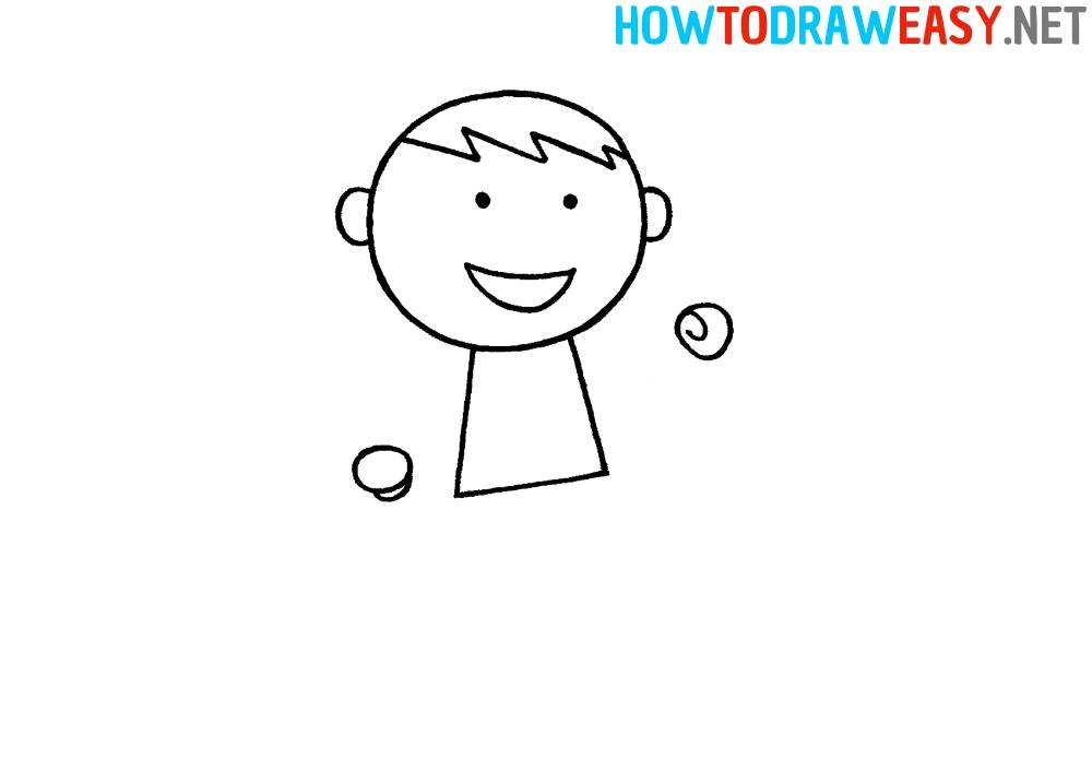Easy Karate Person Drawing