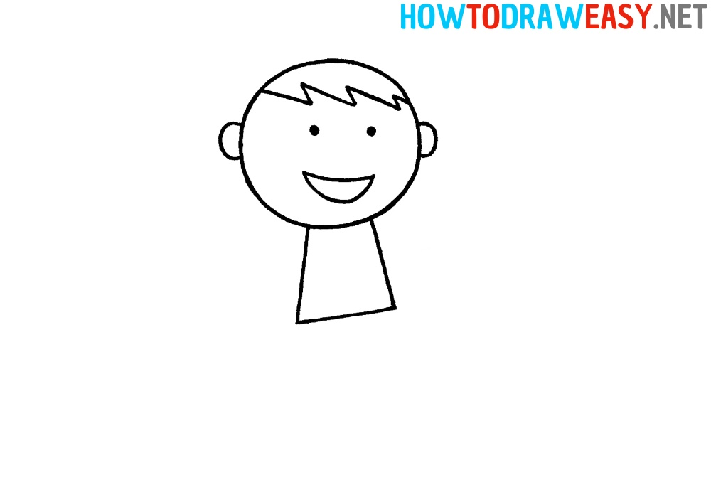 Easy Karate Person Sketch