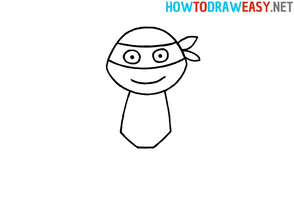 Easy Ninja Turtle Drawing Tutorial