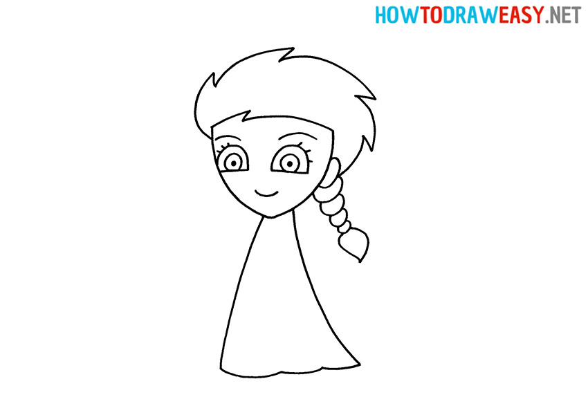 Elsa from Frozen How to Draw