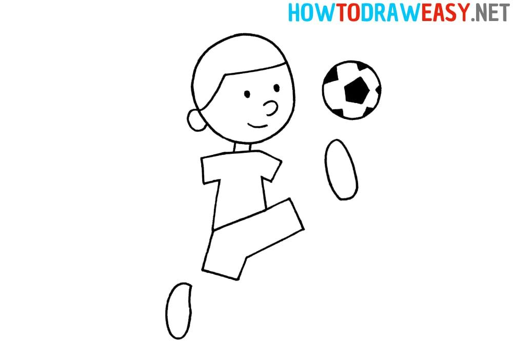 Footballer Drawing