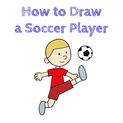 Footballer how to draw