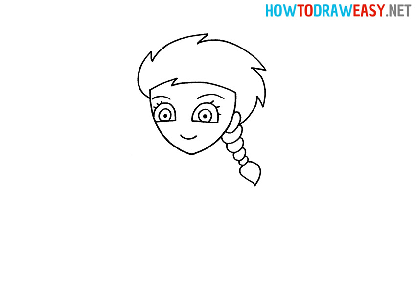 How to Draw Elsa Face