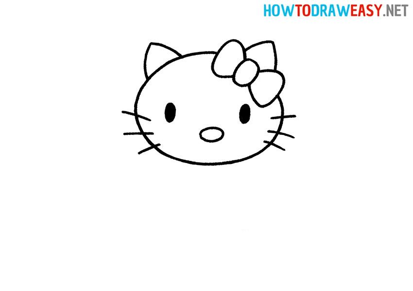 How to Draw Hello Kitty Head