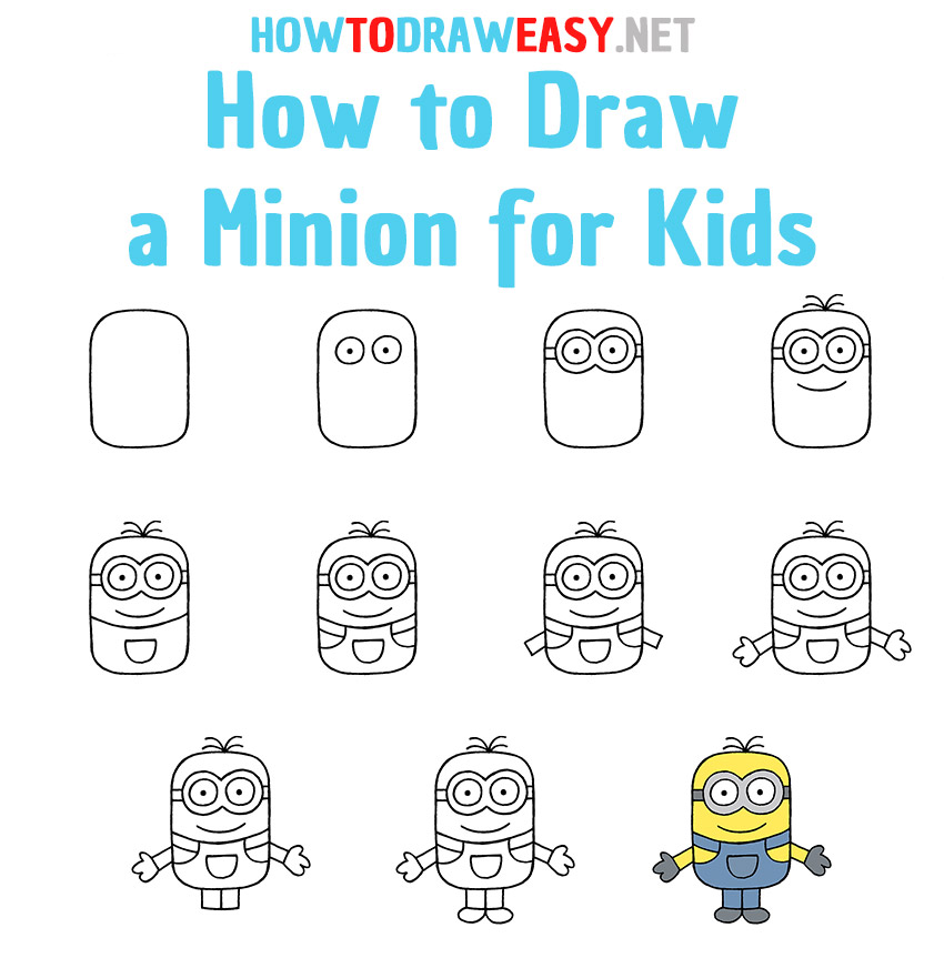 How to Draw Minion Step by Step