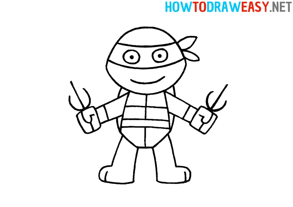 How to Draw Ninja Turtle