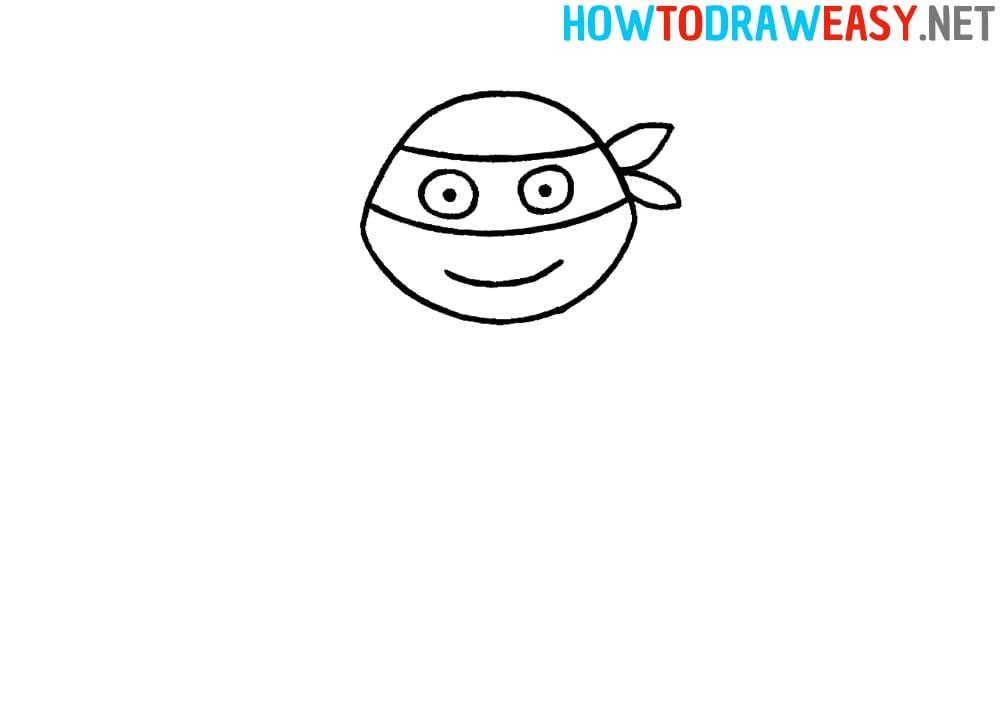 How to Draw Ninja Turtles Head