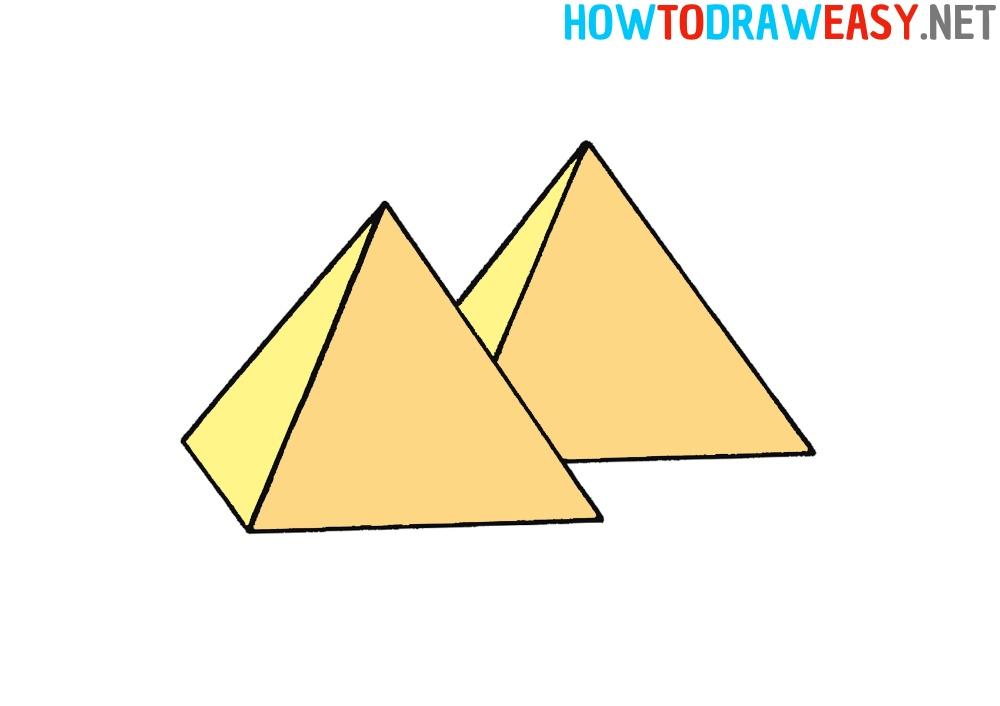 How to Draw Pyramids