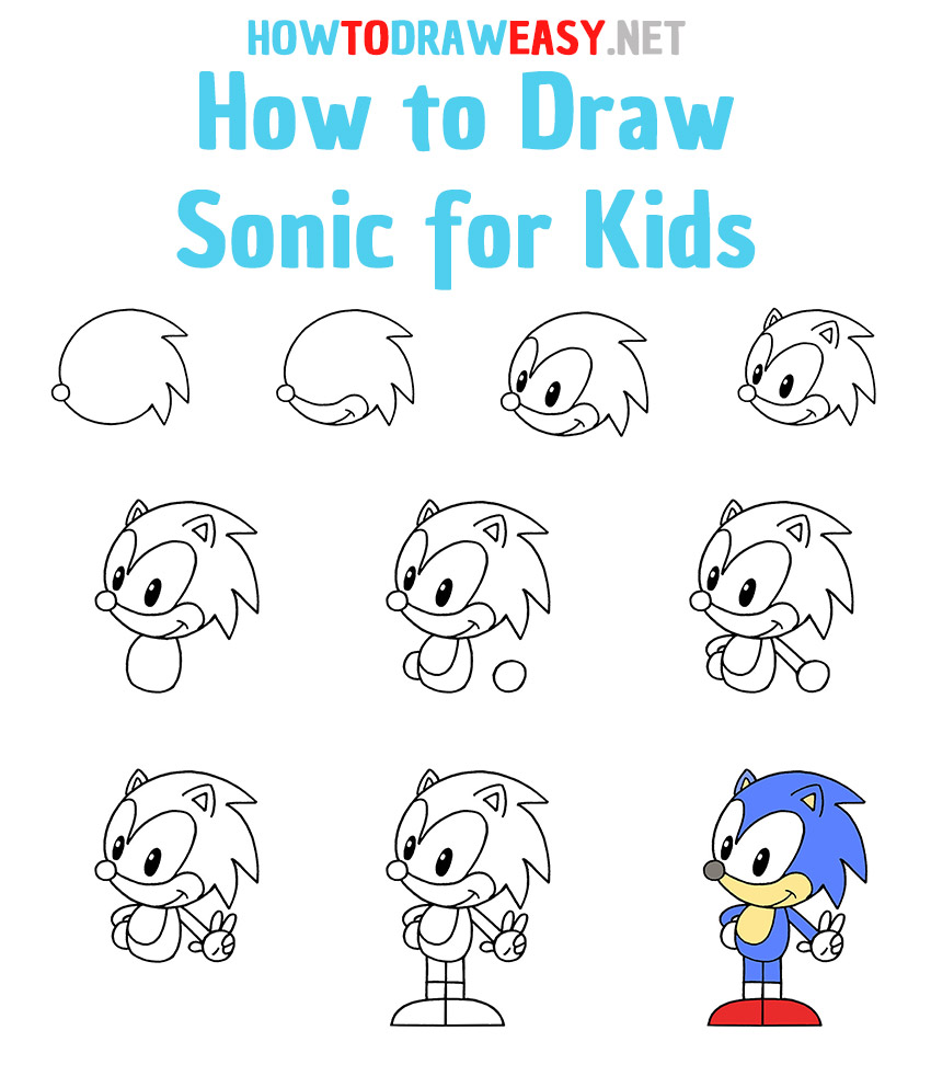 How to Draw Sonic Step by Step
