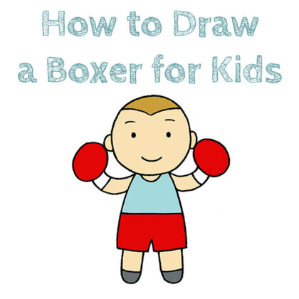 How to Draw a Boxer Easy