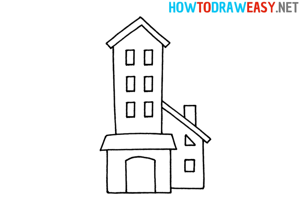 How to Draw a Building Easy
