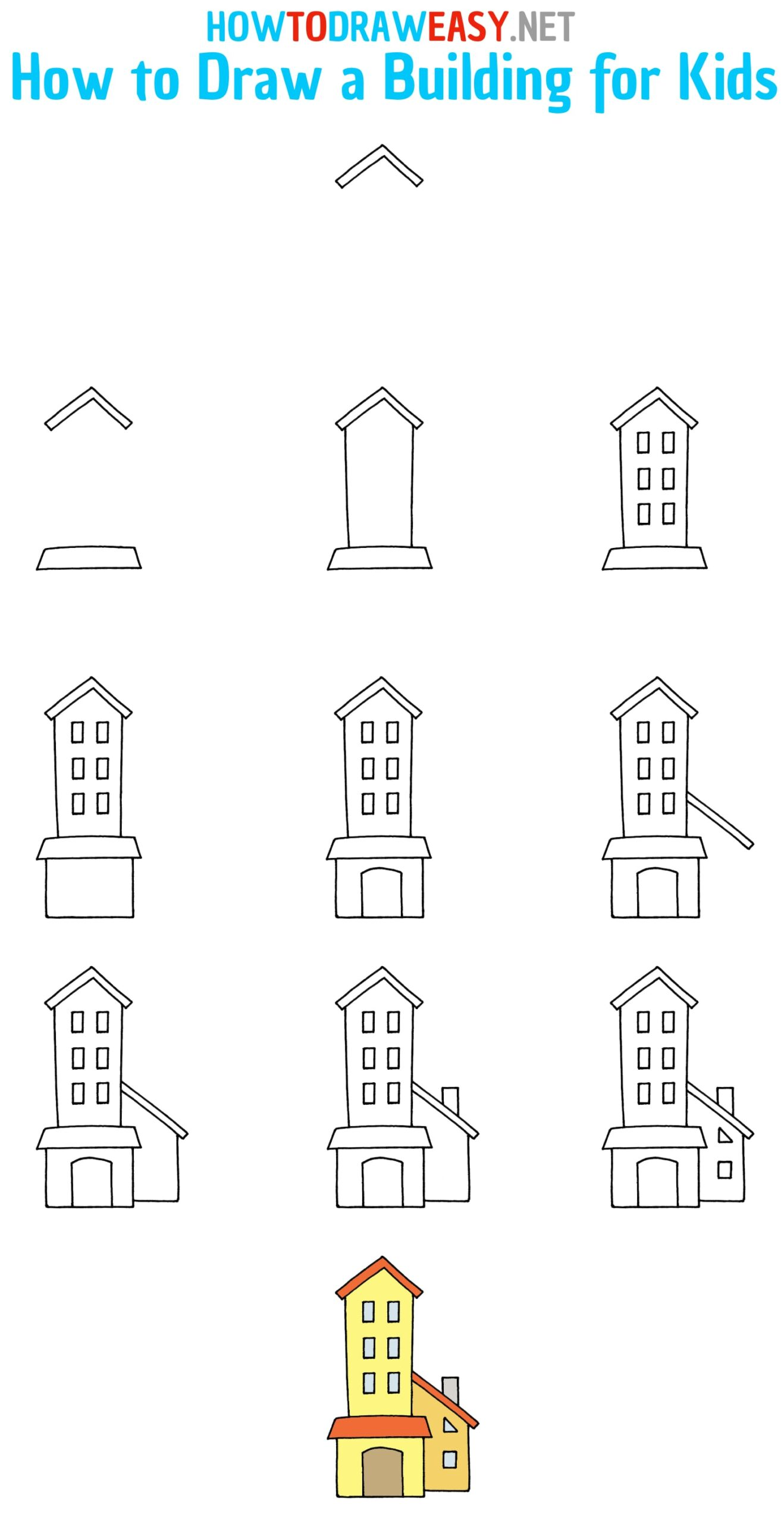 How to Draw a Building Step by Step