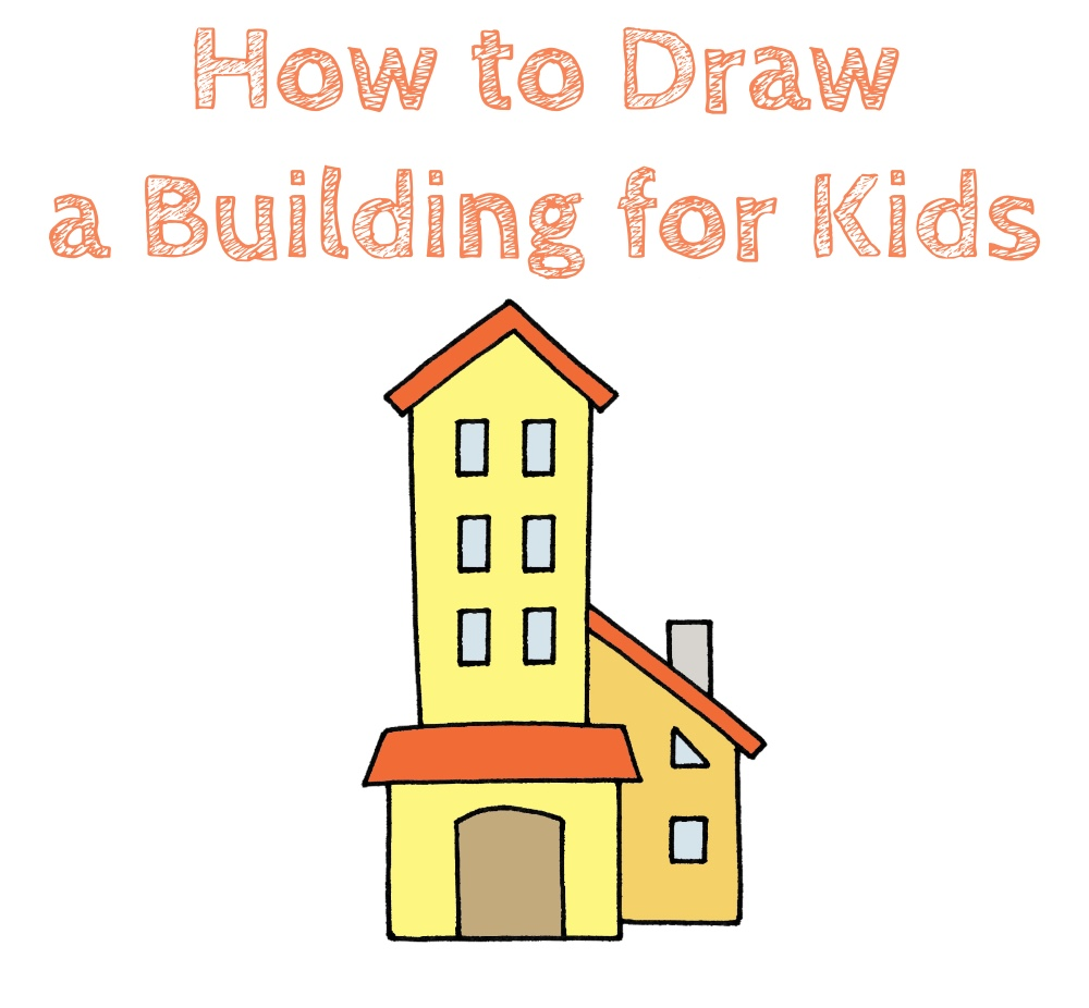 How to Draw a Building for Kids
