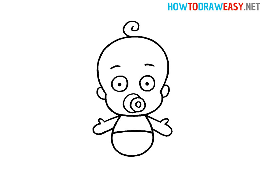How to Draw a Cartoon Baby