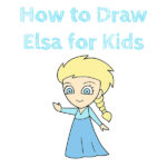 How to Draw Elsa for Kids