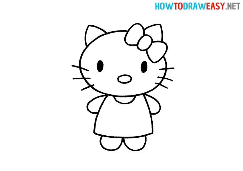 How to Draw a Cartoon Hello Kitty